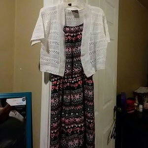 Girls sz 10/12 jumper w/ vest $6.Forever 21 dressp